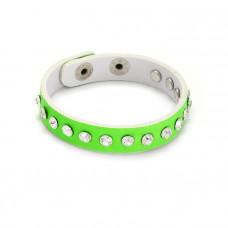 Zielona bransoletka z kryształkami 18-21cm