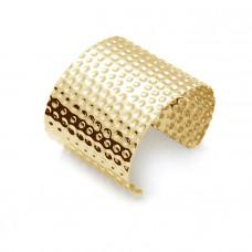 """Bransoletka cuff w kropeczki w kolorze złota  """"uniwersalna"""""""