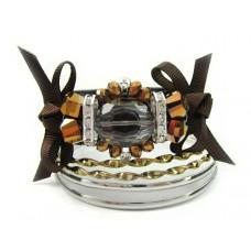 Zestaw bransoletek z kryształkami 67mm