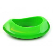Bransoletka bryłka zielona 65mm