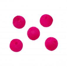 Kulki welurowe 12mm różowe