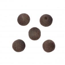 Kulki welurowe 12mm brązowe