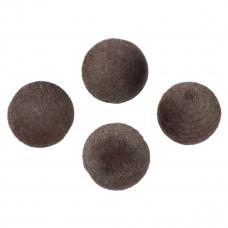 Kulki welurowe 20mm brązowe