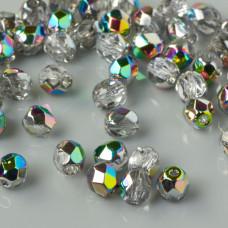 Fire Polish Crystal/Vitral (V00030) 4mm