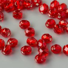 Fire Polish Silver Lined Siam Ruby (SL90080) 4mm