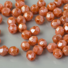 Fire Polish Luster - Pink Coral (LO74020) 4mm