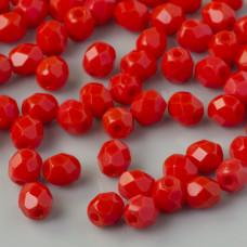 Fire Polish Opaque Light Red (93180) 4mm