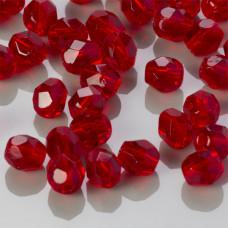 Fire Polish Siam Ruby (90080) 4mm