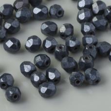 Fire Polish Matte - Hematite (84400JT) 4mm