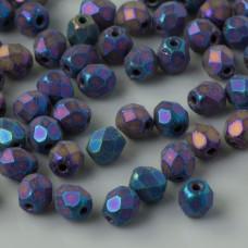 Fire Polish Matte Iris Blue (21135JT) 4mm