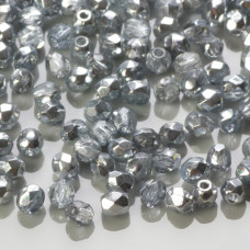 Fire Polish Coated 1/2 Silver (K2601) 3mm