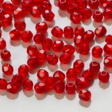 Fire Polish Siam Ruby (90080) 3mm