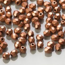 Fire Polish Matte Metallic Copper (K0177JT) 3mm