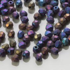 Fire Polish Matte Iris Blue (21135JT) 3mm