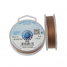 Nitka Power Nylon do koralików beige 0,35mm