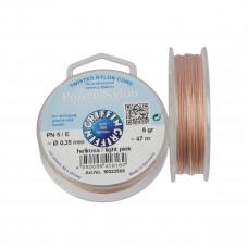 Nitka Power Nylon do koralików light pink 0,35mm