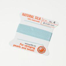 Nici jedwabne z igłą turquoise 0,6mm