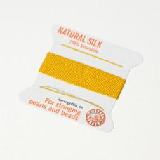 Nici jedwabne z igłą amber 0,5 mm