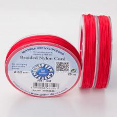 Griffin nylonowy sznurek do makramy 0.5mm czerwony