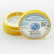 Griffin nylonowy sznurek do makramy yellow 0,5mm
