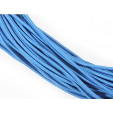 Gumka pleciona okrągła niebieska 3mm