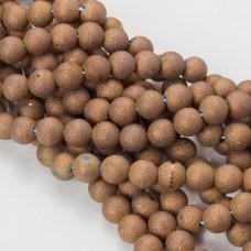 Kwarc syntetyczny powlekany kulka 10mm brązowy
