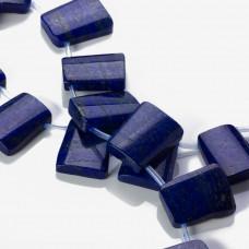 Lapis lazuli kaboszon nawiercony trapez 25x20mm