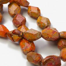 Jaspis cesarski bryłka pomarańczowa 25x19mm