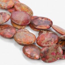Jaspis cesarski owal cynobrowy 40x30mm