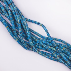 Jaspis cesarski  krążek niebieski 4,5x2,3mm