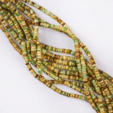 Jaspis cesarski  krążek zielony 4x3mm