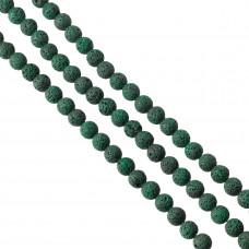 Lawa barwiona emerald kulka 12mm