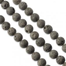Lawa kulka czarne 8mm
