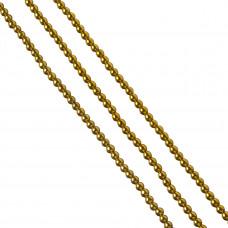 Hematyt kulki złote 4mm