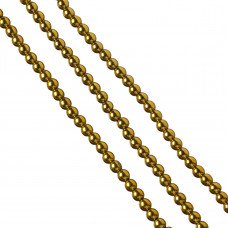 Hematyt kulki złote 6mm
