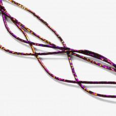 Hematyt przekładka wielokąt platerowana fioletowa 2x1mm