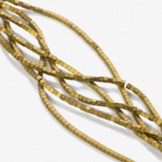 Hematyt platerowany kostka matowa złota 2x2mm