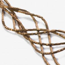 Hematyt platerowany kostka matowa brązowa 2x2mm