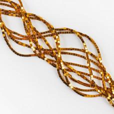 Hematyt platerowany kostka ciemny złoty 2x2mm