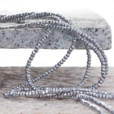 Hematyt oponka fasetowana koloru srebrnego 3x2mm