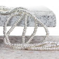 Hematyt oponka fasetowana light silver 4x2mm
