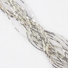 Hematyt słupek platertowany light silver 6x1,3mm