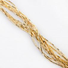 Hematyt słupek sześciokątny light gold 4,2x2mm