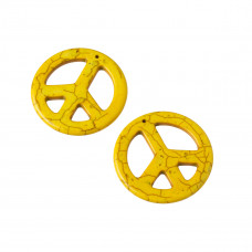 Howlit pacyfka zawieszka  żółta 45mm