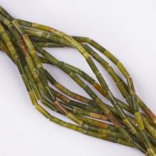 Jadeit zielony walec gładki 13x4mm