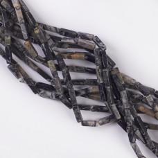 Jaspis słupek gładki 13x4mm