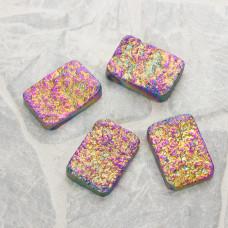 Kwarc górski platerowany prostokąt vitrail medium
