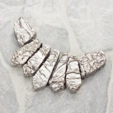 Kwarc platerowany zestaw do naszyjnika 7 części srebrny