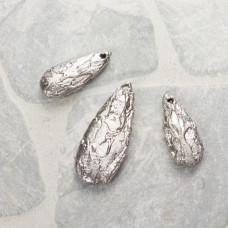 Kwarc dropy platerowane zestaw srebrny