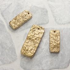 Kwarc prostokąty zestaw złoty
